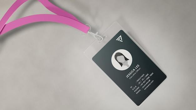 Namensschild id card mockup