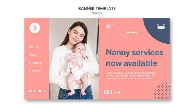 Nanny services banner vorlage