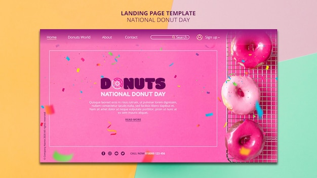 National donut day landing page style