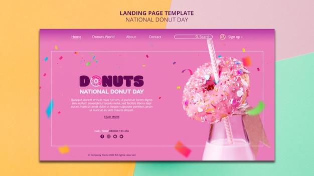 National donut day landing page vorlage