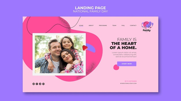 Nationales familientag-landingpage-thema