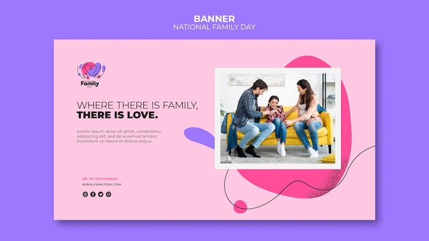 Nationales familientagsbanner