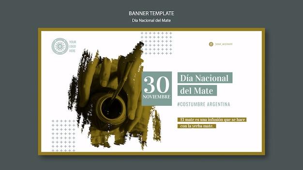 Nationalfeiertag der mate getränke banner vorlage