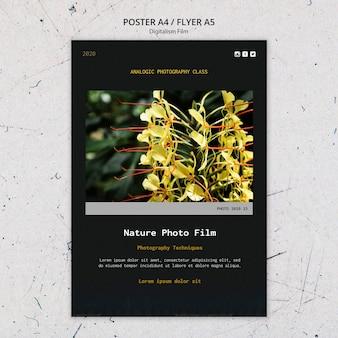 Natur foto film flyer vorlage