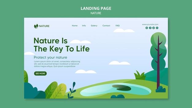 Natur ist der schlüssel des lebens web-vorlage