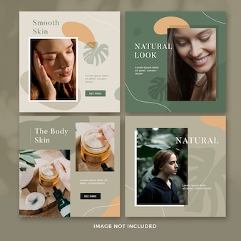 Natur social media post collection premium psd