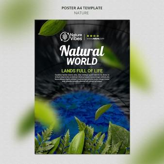 Natur vertikale druckvorlage