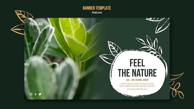 Naturereignis-bannerschablone