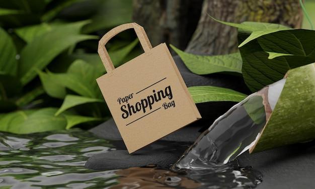 Naturkonzept papiereinkaufstaschenmodell