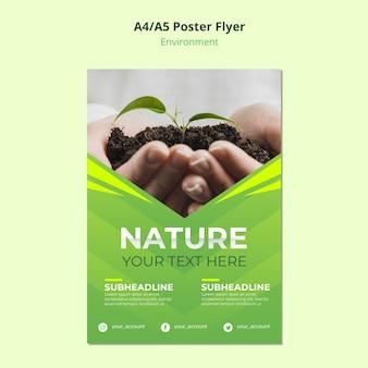 Naturumgebung für flyer vorlage