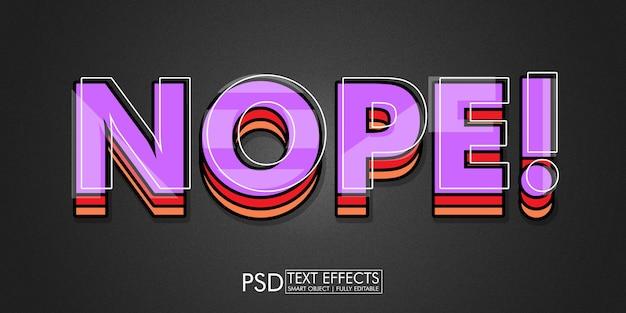 Nee! texteffekt-design