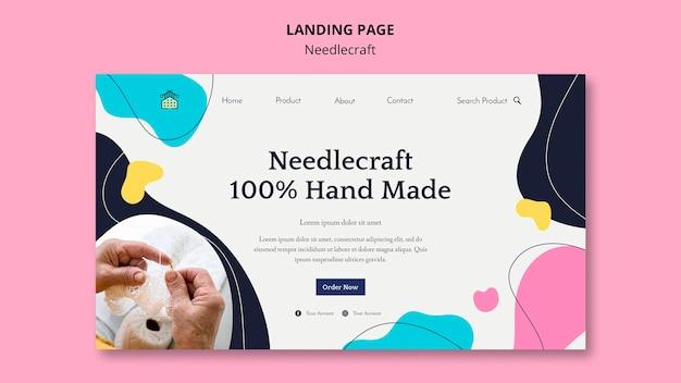 Needlecraft landing page design