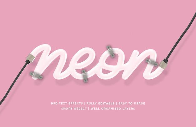 Neon 3d text-stil-effekt