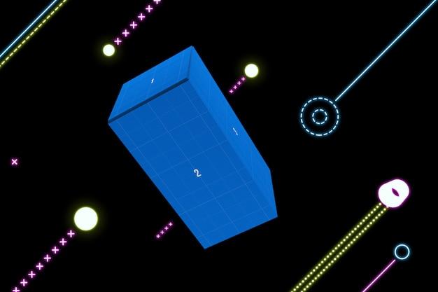 Neon box mockup