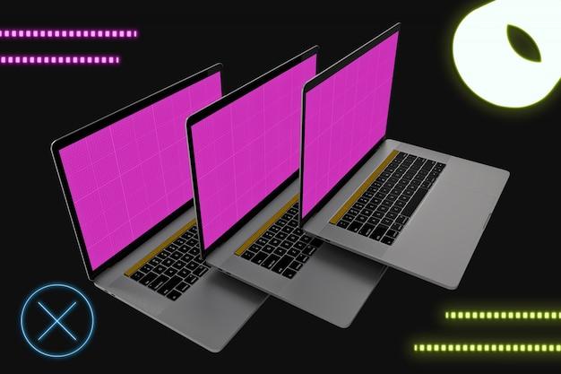 Neon floating laptop pro
