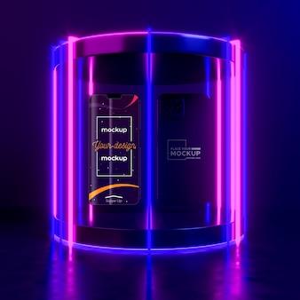 Neon-gerätekonzept-modell