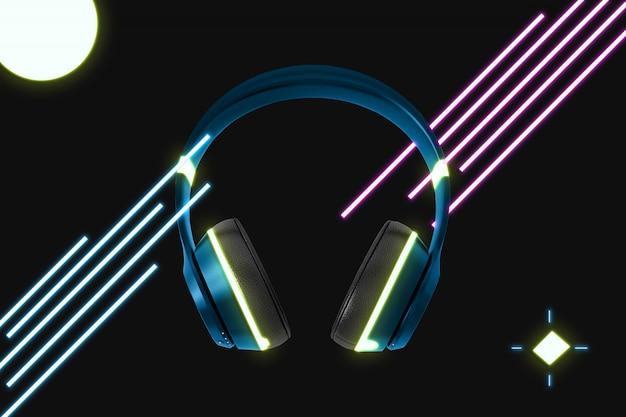 Neon-kopfhörer-modell