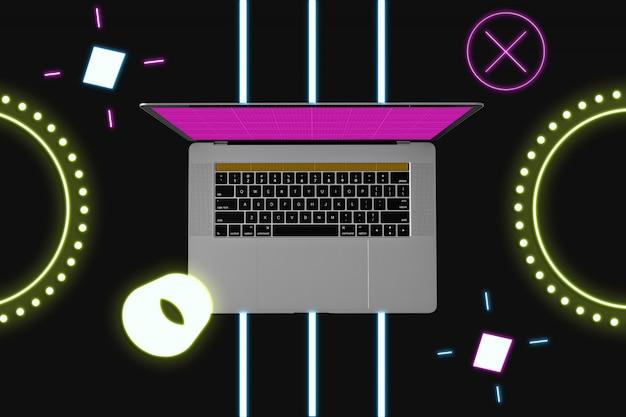 Neon laptop modell