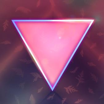 Neon leuchtendes dreiecksrahmendesign