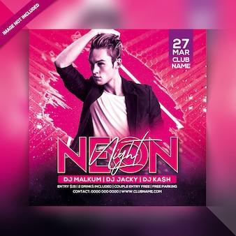 Neon nacht party