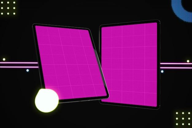 Neon tablet mockup