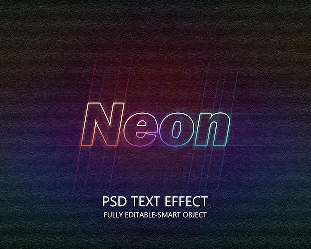 Neon-text-effekt