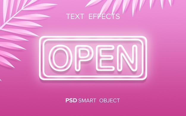 Neon-texteffekt-modell