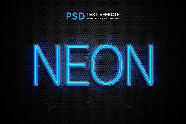 Neonlicht-textstileffekt