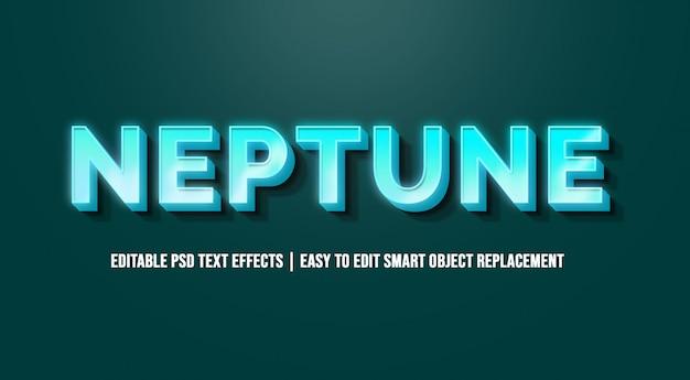 Neptun in 3d blue text effects