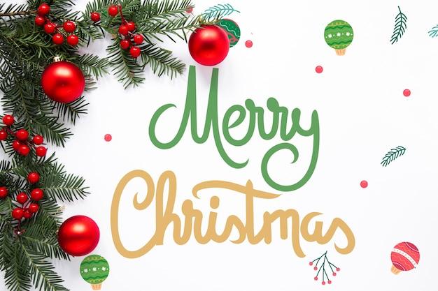 Nette beschriftung der frohen weihnachten