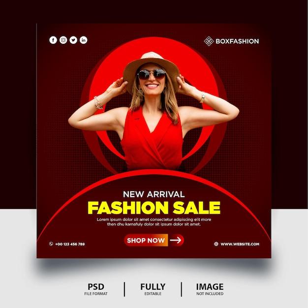 Neue ankunft fashion sale social media post banner