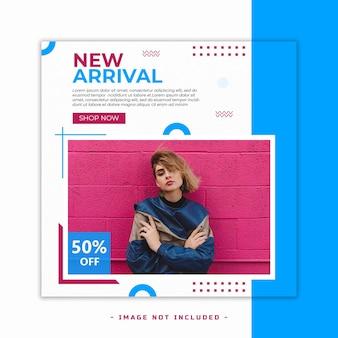 Neue ankunft mode verkauf banner design vorlage psd