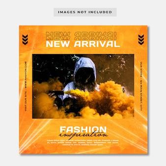 Neue ankunft streetwear instagram post vorlage