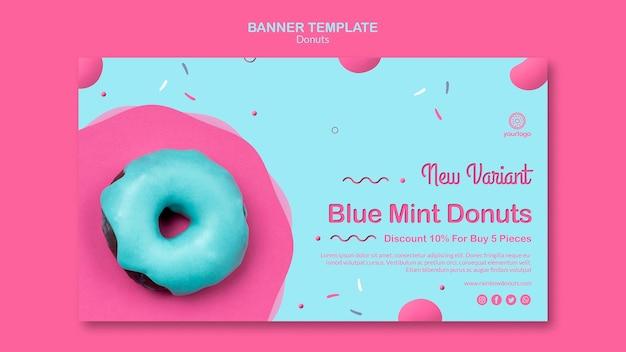 Neue arten von donuts banner vorlage