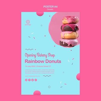 Neue arten von donuts poster vorlage