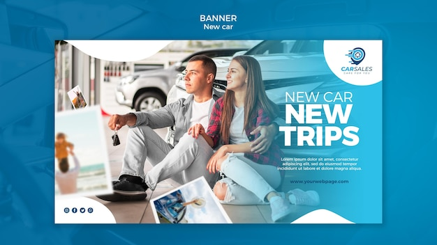 Neue auto-konzept-banner-vorlage