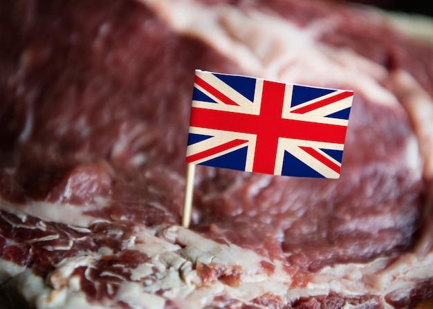 Neue britische rindfleischsteaklebensmittelphotographie-rezeptidee