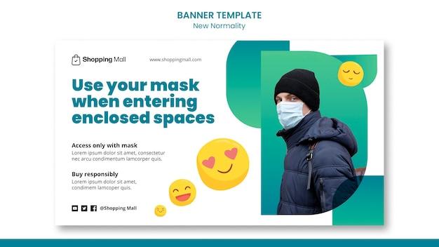Neue designvorlage für normalität-banner