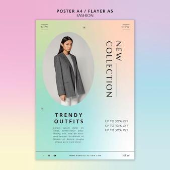 Neue flyer-vorlage für die outfit-kollektion