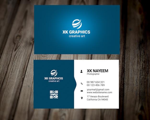 Neue grafikdesigner-visitenkarte