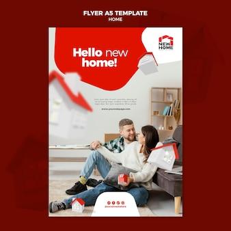 Neue home flyer vorlage