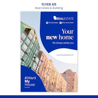 Neue home flyer vorlage Kostenlosen PSD
