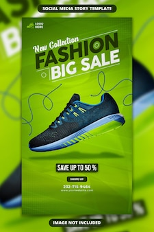 Neue kollektion fashion big sale instagram und facebook story banner vorlage