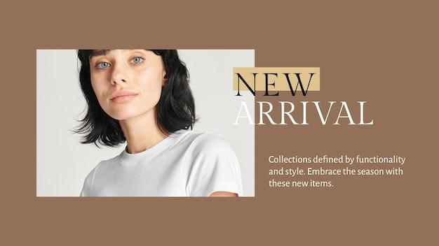 Neue modekollektionsvorlage psd für blog-banner