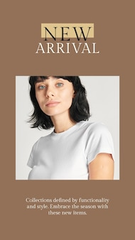 Neue modekollektionsvorlage psd für social media story