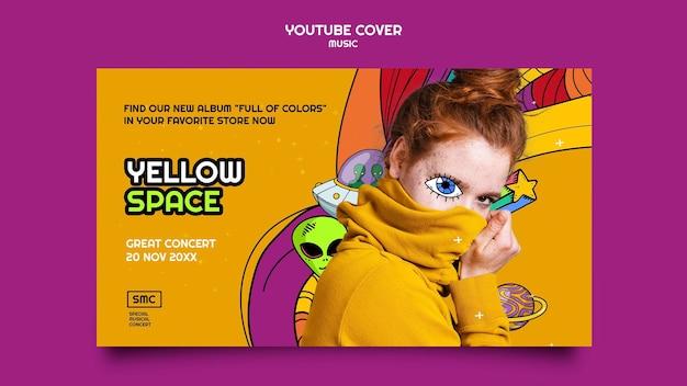 Neue musikalbum-youtube-cover-vorlage