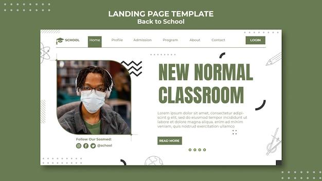Neue normale klassenzimmer-landingpage