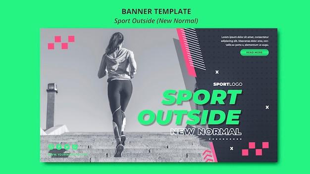 Neue normalität im sportbanner-design