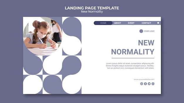 Neue normalitäts-homepage