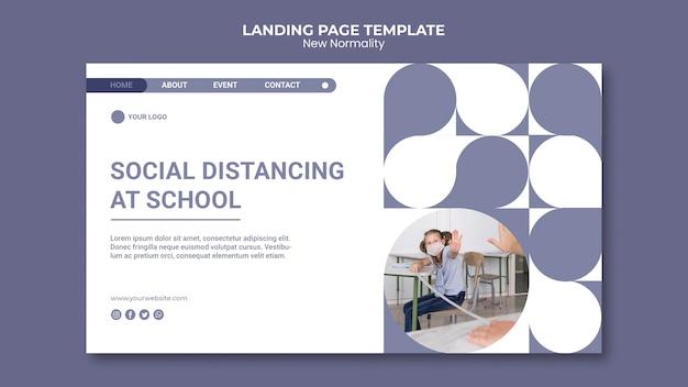 Neue normalitäts-landingpage